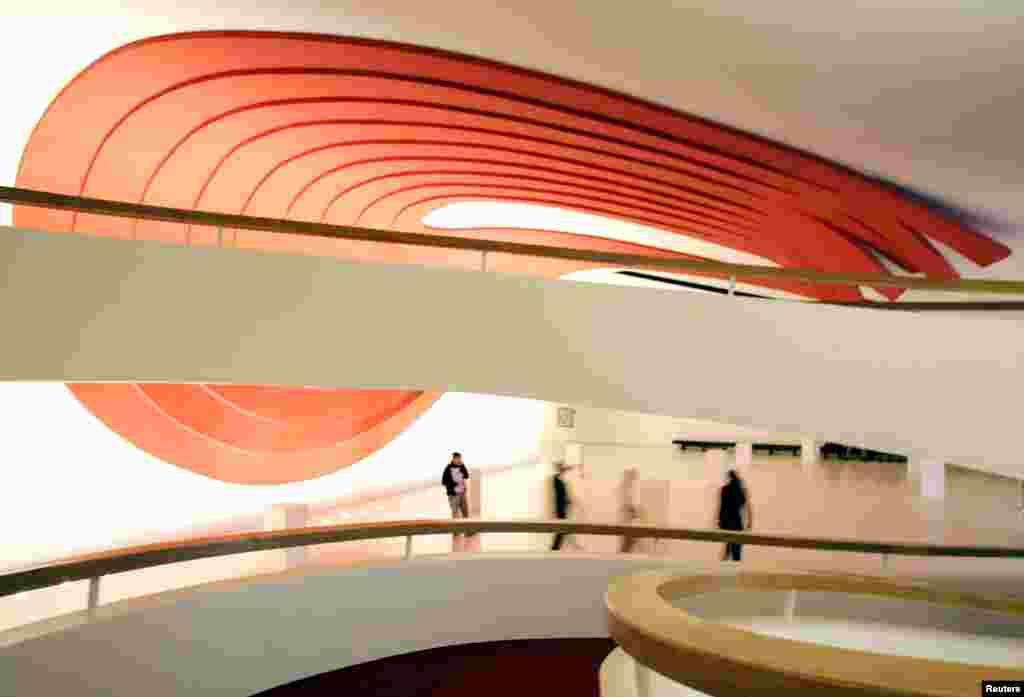 Ibirapuera Auditorium at Ibirapuera Park in Sao Paulo, Brazil