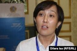 Республикалық СПИД орталығы маманы Сайранкүл Қасымбекова. Шымкент, 14 маусым 2017 жыл.