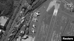 რუსეთის თვითმფრინავები კარაკასის აეროპორტში. 2018 წლის 10 დეკემბრის ფოტო.