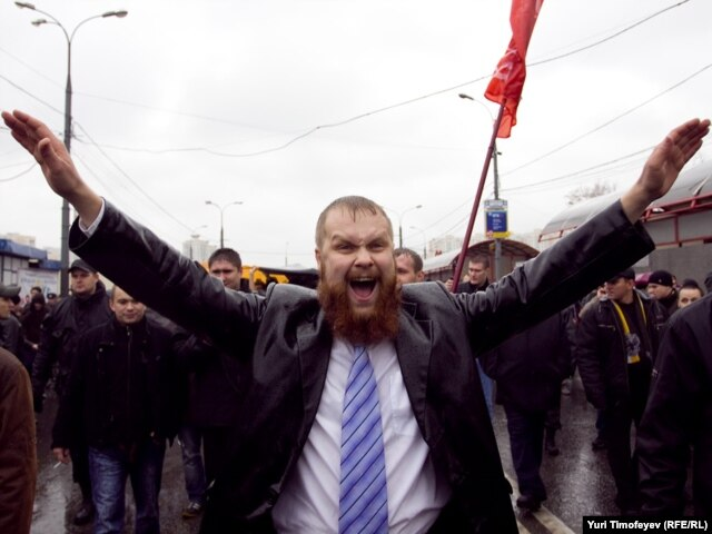 """Дмитрий Демушкин на """"Русском марше"""", 2010"""
