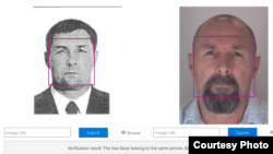 """Снимката, с която Русия обявява за международно издирване през 2014 г. Красиков (вляво) съвпада с тази на заподозрения за убийството в Берлин Вадим Соколов (вдясно), твърди """"Белингкат"""""""