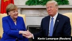 Канцлер Німеччини Ангела Меркель президент США Дональд Трамп обговорили Україну і Сирію