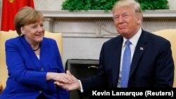 Президент Дональд Трамптың канцлер Ангела Меркельмен кездесуі. Вашингтон. 27 сәуір, 2018 жыл.