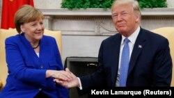 ABŞ prezidenti Donald Trump aprelin 27-də Almaniya kansleri Angela Merkeli Ağ Evdə qəbul edib