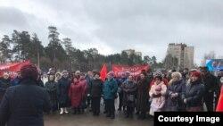Митинг в Сосновом Бору