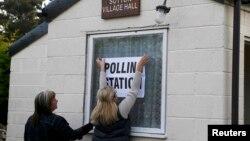 Відкриття виборчої дільниці у північній Англії. 7 травня 2015 року