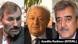 Экс-политики Этибар Мамедов (справа), Аяз Муталлибов и Немат Панахлы