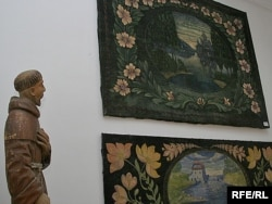 Маляваныя дываны Язэпа Драздовіча. Нацыянальны мастацкі музэй у Менску, 13 кастрычніка 2008 г.