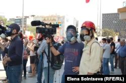 На площади Таксим перед началом штурма
