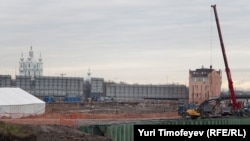Пока на Охте строительство не идет