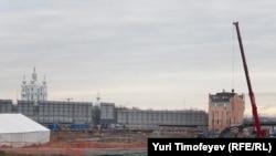 """Строй-площадка """"Охта-центра"""", 12 ноября 2010"""