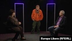 Alina Radu, Ion Preașca și Vasile Botnaru în studioul Europei Libere