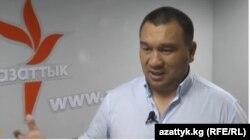 Қырғызстан ішкі істер министрлігінің ұйымдасқан қылмысқа қарсы күрес департаменті басшысы Рафик Мамбеталиев. Бішкек, 26 қаңтар 2015 жыл.