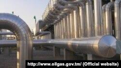 Газокомпрессорная станция в Лебапской области Туркменистана.