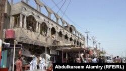 آثار انفجار في البصرة في 20 آيار 2013
