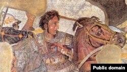 Олександр Македонський розбиває перського царя Дарія III (З мозаїки у Помпеях)