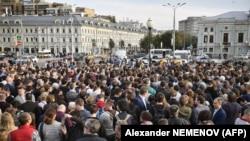 Акция протеста на Трубной площади в Москве
