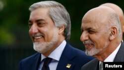Presidenti afgan, Ashraf Ghani së bashku me shefin ekzekutiv të vendit, Abdullah Abdullahu