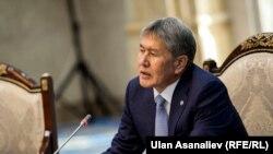 Президент Кыргызстана Алмазбек Атамбаев в резиденции «Ала Арча» в Бишкеке, 28 февраля 2017 года.