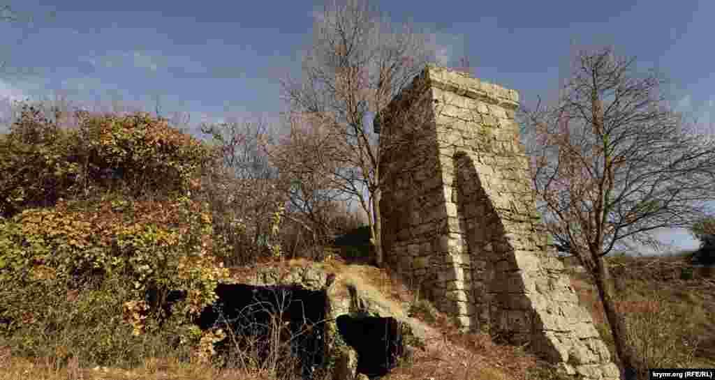Печера біля куртини східної стіни