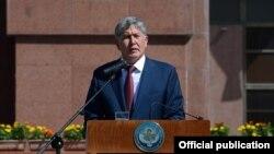 Алмазбек Атамбаев на праздновании Дня независимости в Бишкеке. 31 августа 2014 года.