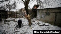 Пасьля абстрэлу ў Аўдзееўцы 2 лютага 2017 году.