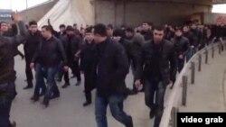 Binə Ticarət Mərkəzində aksiya, 19 yanvar 2013