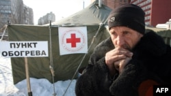 The scene at a newly opened shelters in the industrial city of Donetsk on February 2.
