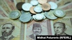 Novčanice i kovanice konvertibilne marke, ilustracija