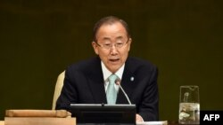 Ban Ki-moon duke folur në hapje të samitit në Kombet e Bashkuara