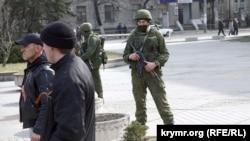 «Зелені чоловічки» в Криму, березень 2014 року