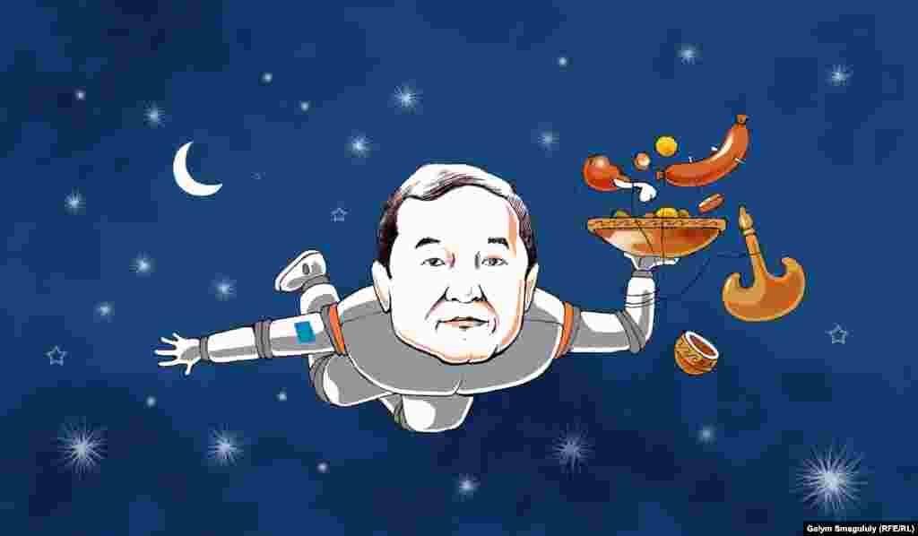 Қазақстанның ғарышкері, ғарышта нақты қандай бағдарлама не зерттеумен шұғылданғаны белгісіз күйі қалған Айдын Айымбетов.