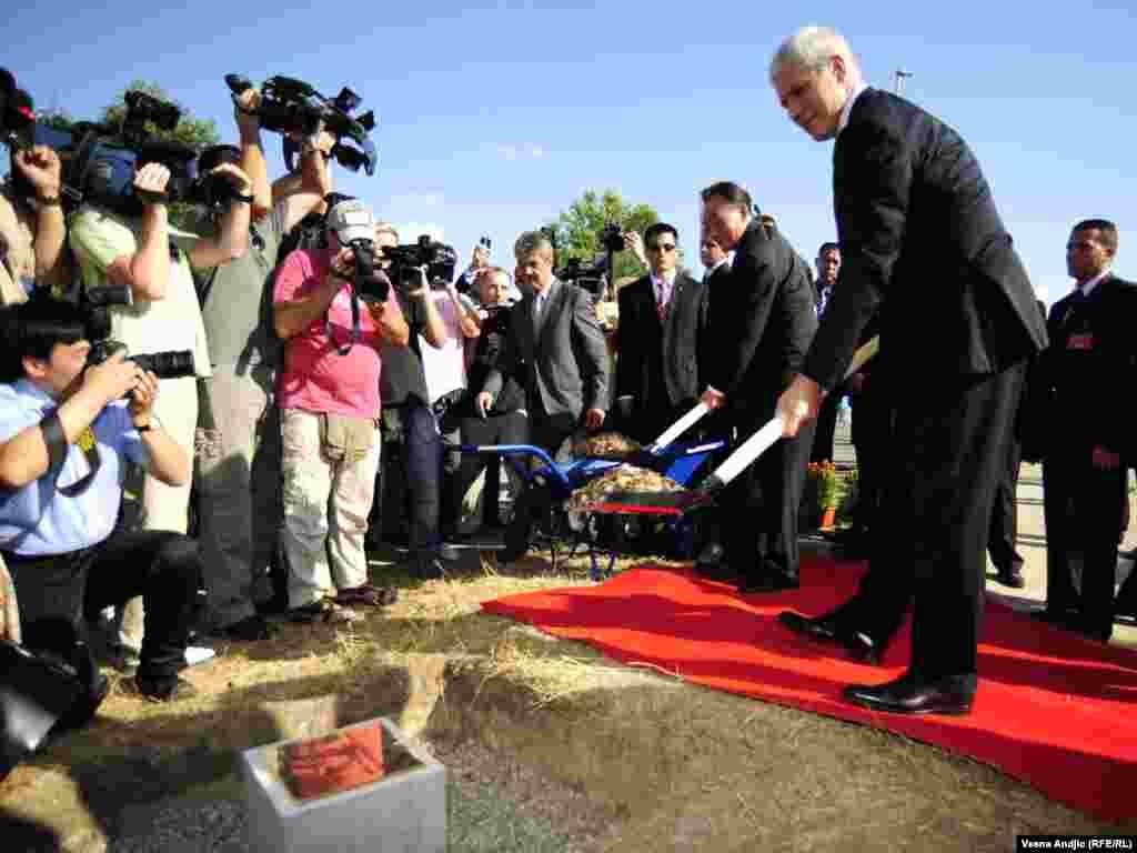 Predsednik Srbije Boris Tadić i predsednik Stalnog komiteta Svekineskog narodnog kongresa Vu Banguo FOTO: VESNA ANĐIĆ