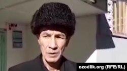 Приговоренный в Узбекистане в 2009 году к 12 годам лишения свободы по обвинению в мошенничестве журналист Дильмурод Саидов после выхода из заключения.