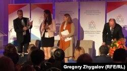 Нагородження європейською премією імені Павла Шеремета Миколи Семени, 28 листопада 2016 року