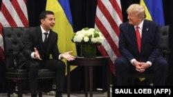 Президент України Володимир Зеленський і президент США Дональд Трамп. Нью-Йорк, 25 вересня 2019 року