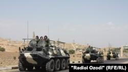 Военные учения стран-участниц Организации договора о коллективной безопасности в Таджикистане, Лохур, 19 сентября 2011 года.