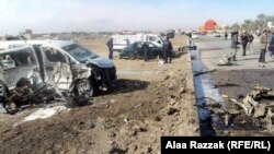 Бабыл қаласындағы жарылыс болған жер. Ирак, 23 ақпан 2012 жыл.