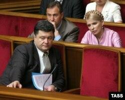 Пятро Парашэнка і Юлія Цімашэнка ў Вярхоўнай Радзе, 2006 год