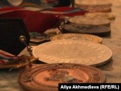 Қани Әйпиевтің түрлі жарыстардан алған жүлделері. Алматы облысы, 13 маусым 2013 жыл.