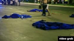 Ниццадағы терактіде қаза тапқандардың денелері.