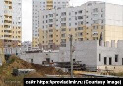 Стройка школы во Владимире, сентябрь 2017 года
