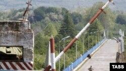 Georgia-- The bridge across the Inguri River on Abkhazia's border with Georgia, 17May2009