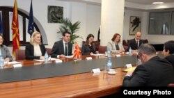 Од средбата на шефицата на кипарската дипломатија Ерато Козаку Маркулис со министерот за надворешни работи Никола Попоски во Скопје.