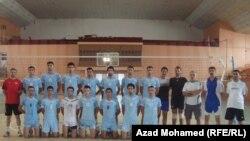المنتخب العراقي بالكرة الطائرة في معسكره بالسليمانية