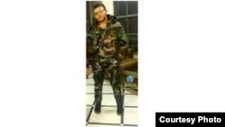 Военнослужащий Акоп Сапа (фотография - газета «Гандзасар»)