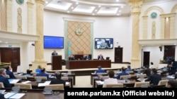 Заседание верхней палаты парламента Казахстана.
