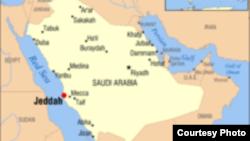 Карта Саудовской Аравии.