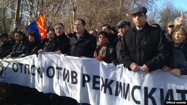 Protest opozicije u Skoplju, 12. februar 2013.