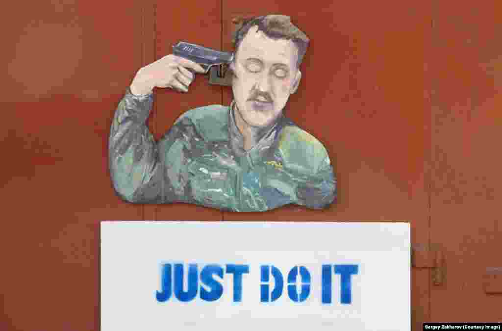 Zakharov's best known pre-detention work depicts former separatist commander Igor Strelkov. The artist jokingly takes credit for his removal from office in late August.